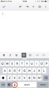 Create content with your voice using Google docs