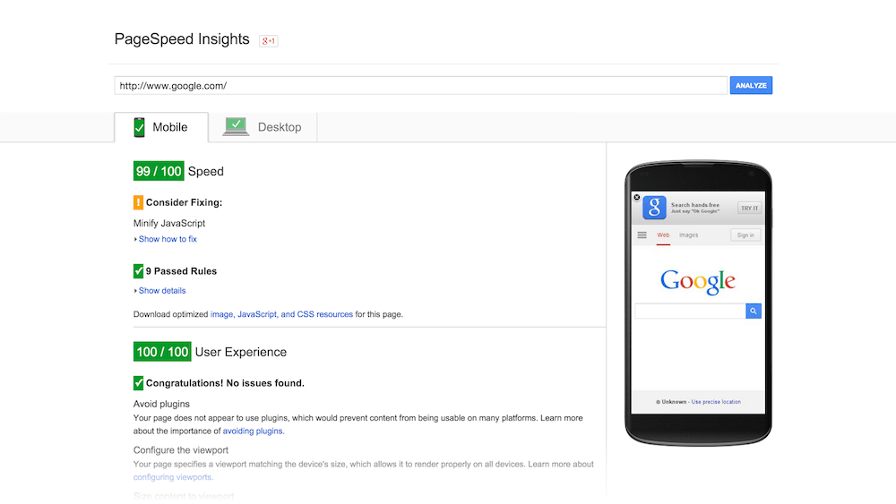 PageSpeed Insights by Google
